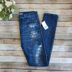 New Vince Tall/Long Splattered Paint Jeans